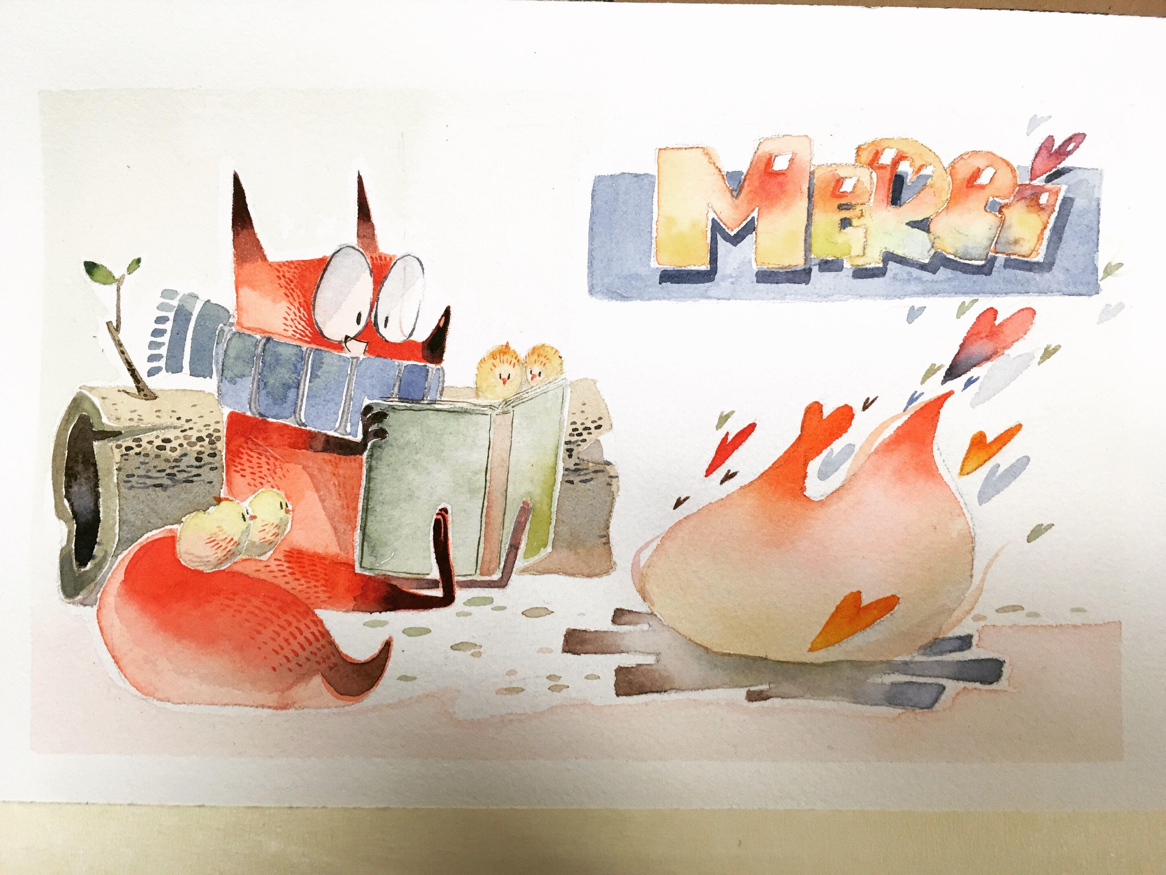 #watercolor #illustration #fox #art