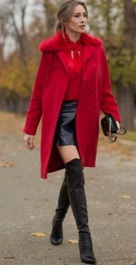 The Girl in the Red Coat – Fashion Spot #girl | my style | Pinterest