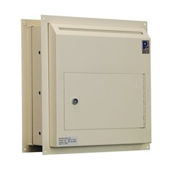 Protex Safe Co Through The Wall 14 In X 15 In Steel Drop Box Mounted Mailbox Wall Safe Wall