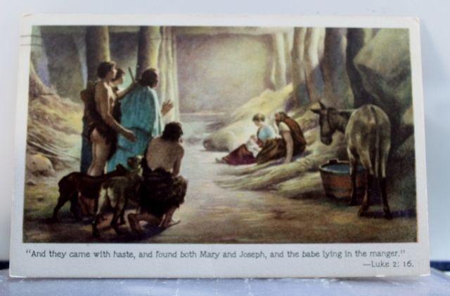 Christian Nativity Postcard Old Vintage Card View Standard Souvenir Postal Post