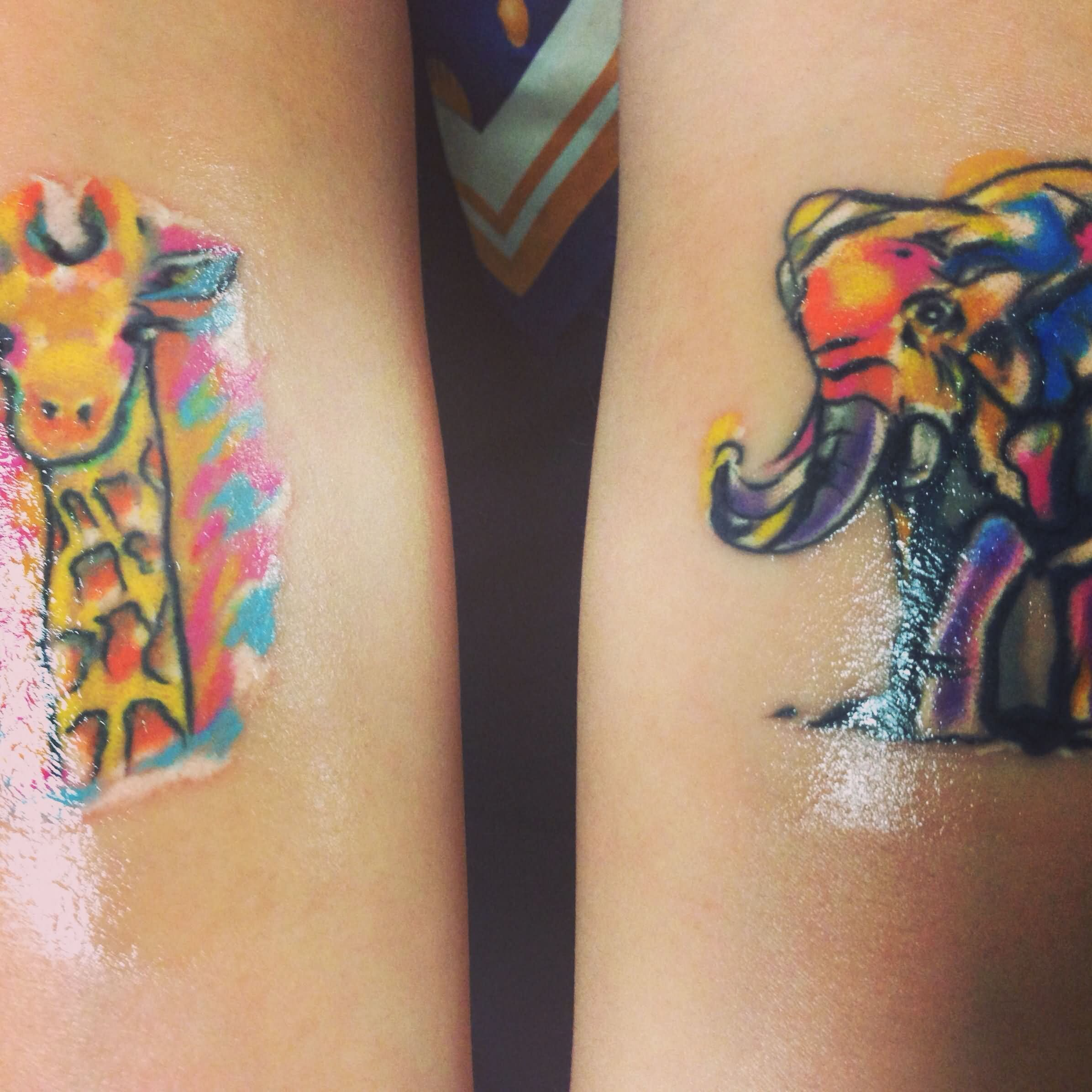 Zebragiraffe And A Elephant Tattoo Google Search Tattoos