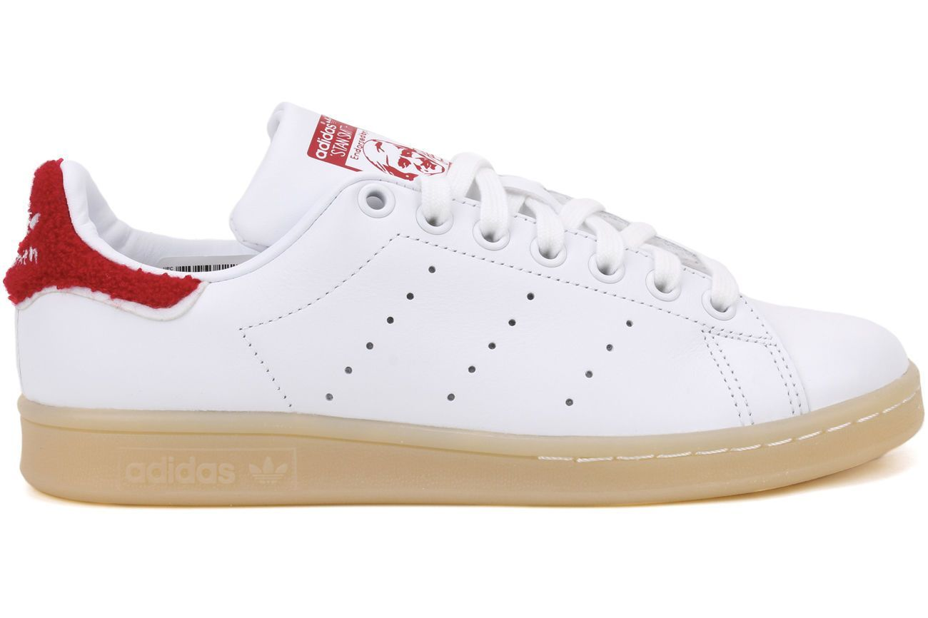a3277237265f9 Adidas Originals Stan Smith S32256 Women S White Red Casual Lifestyle Shoes
