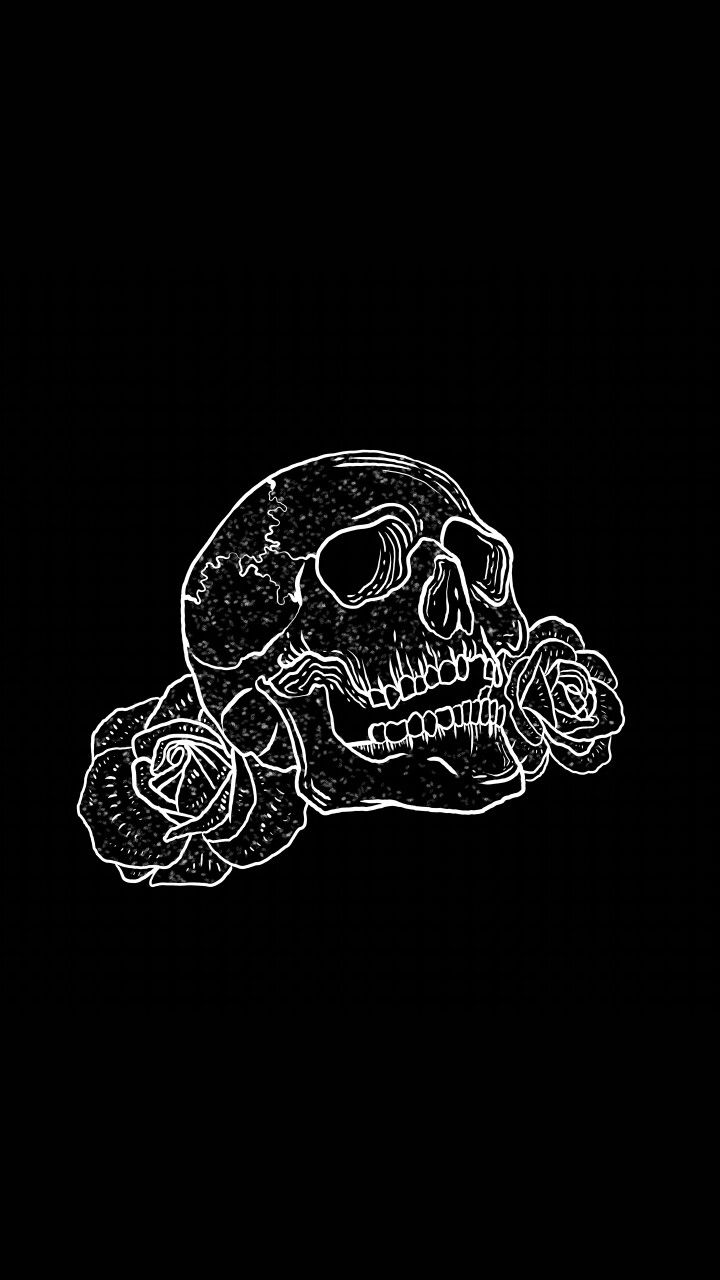 Skull And Rose In 2019 Skull Wallpaper Skull Wallpaper