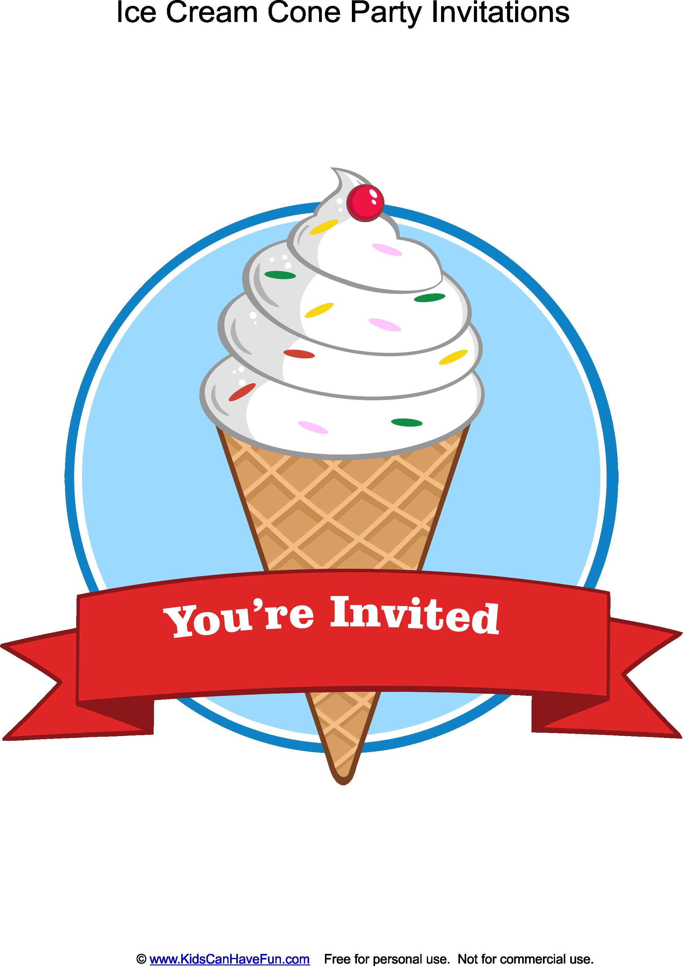 Outstanding Ice Cream Party Invites Illustration - Resume Ideas ...