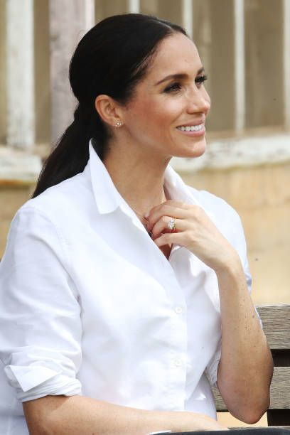 Meghan, Duchess of Sussex visits a local farming family, the...