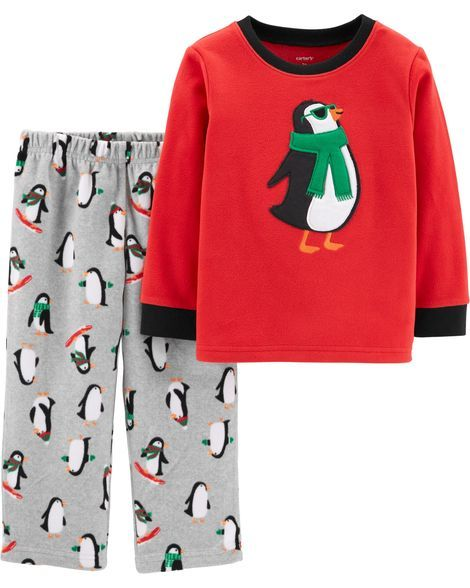 dd65be9c3 2-Piece Penguin Fleece PJs