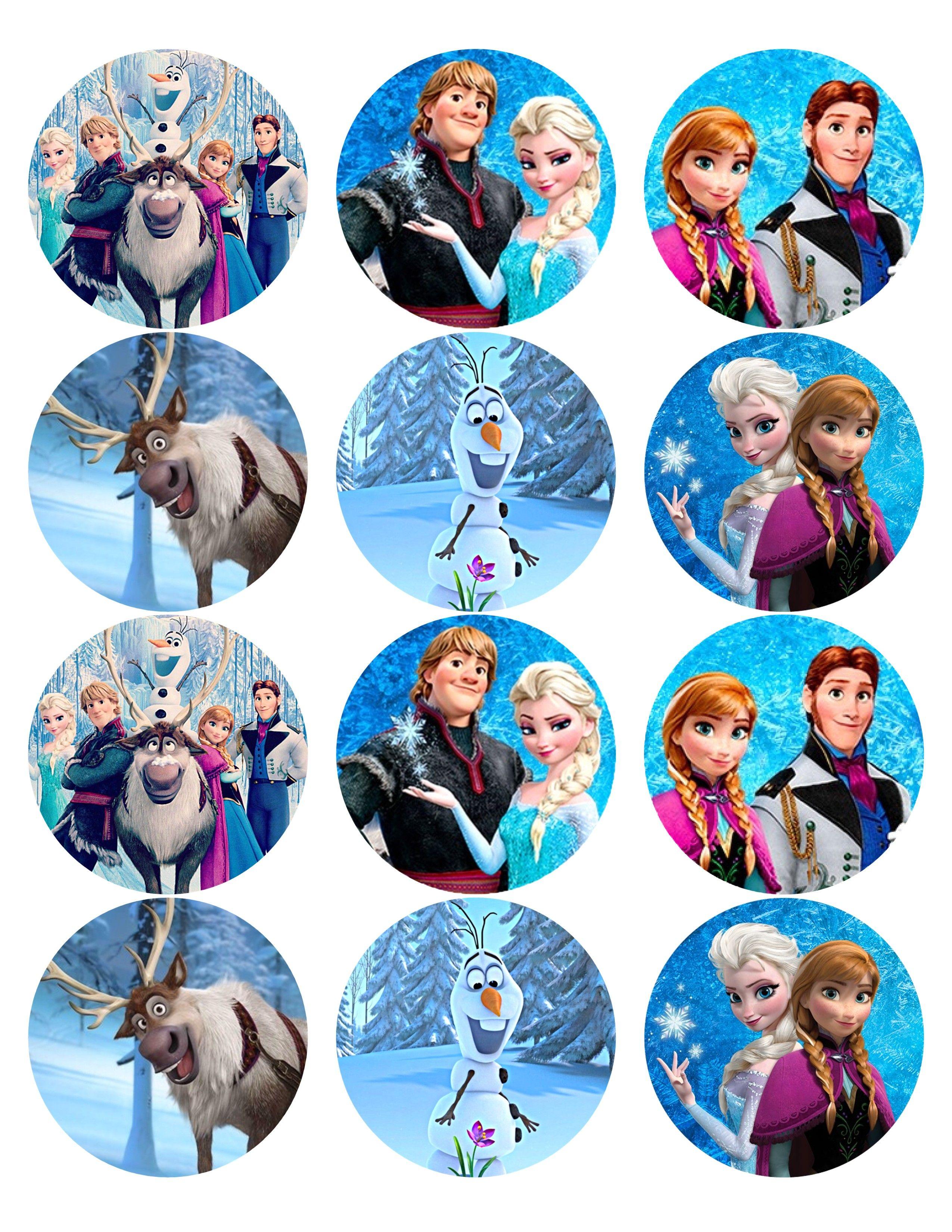 Frozen Disney Cupcake Toppers Printables Disney Cake