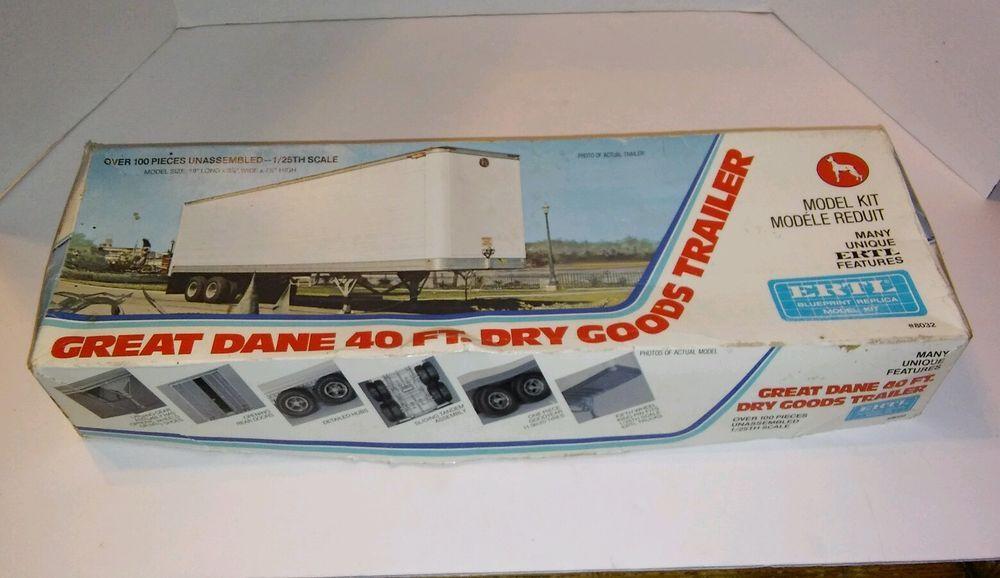 Ertl Great Dane 40 Ft Dry Goods Trailer Vintage 8032 Ertl Best
