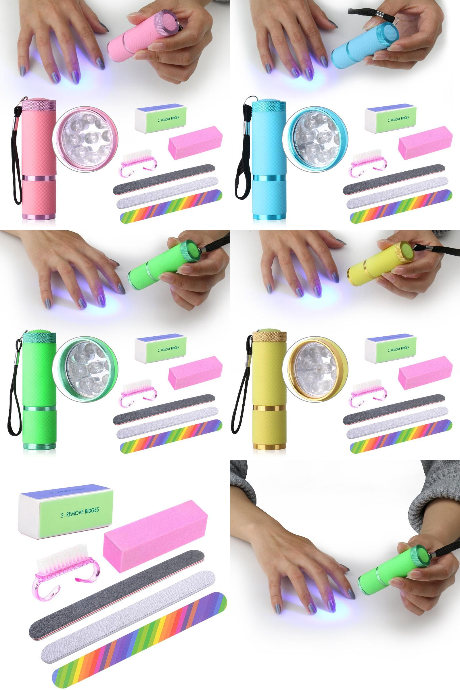 Visit to Buy] Belen 9W Nail Dryer LED Flashlight UV Lamp Portable ...