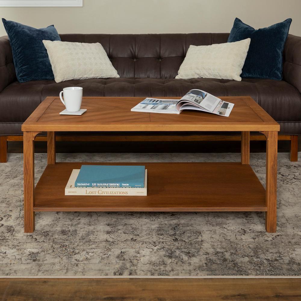 Walker Edison Furniture Company Caramel Modern Farmhouse Coffee Table In 2019 Furniture Stylish Coffee Table Coffee Table Grey [ 1000 x 1000 Pixel ]