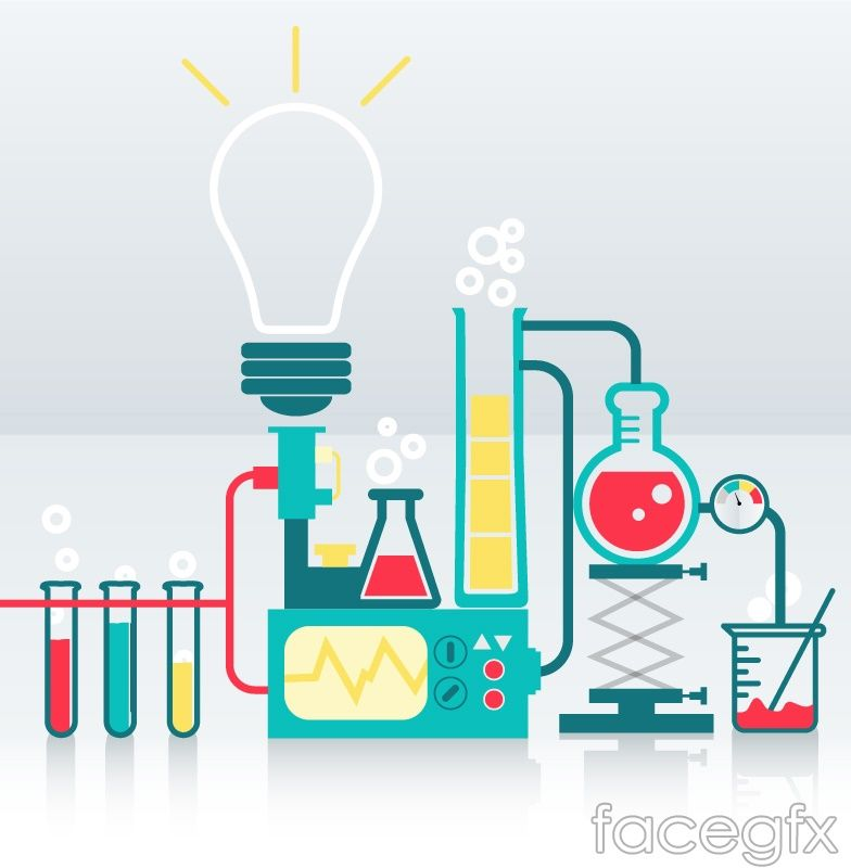 Science Laboratory Background Design: Creative Chemistry Background Vector