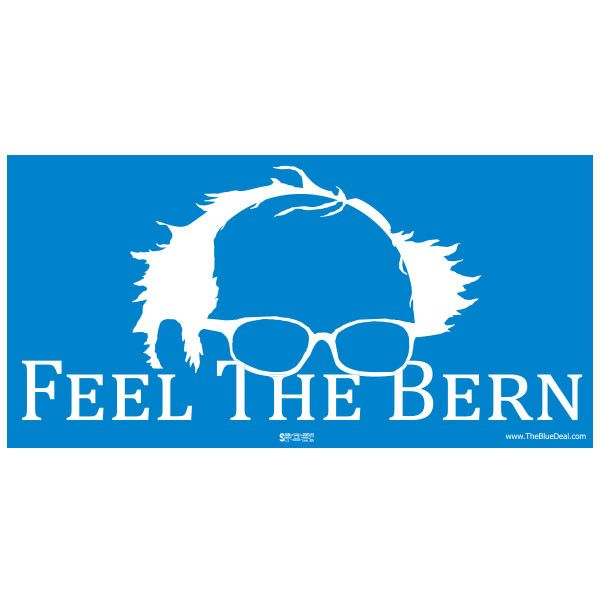Feel the bern bumper sticker union printed bulk discounts ships next day feelthebern