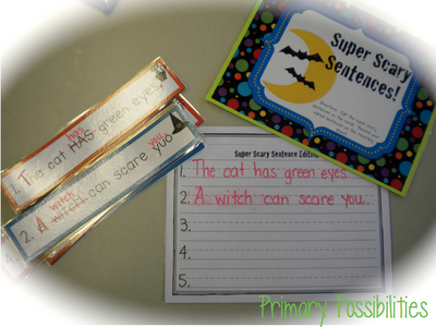 Sentence Editing...Huge Common Core Halloween Packet Primary Possibilities