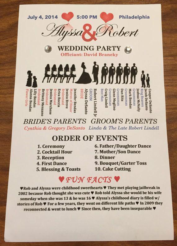 Unique Wedding Ceremony Programs Pinterest Wedding Ceremony