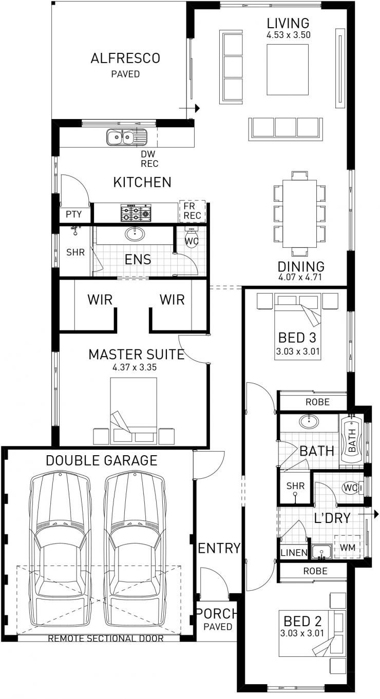 Caversham single storey floor plan wa tiny houses pinterest the caversham home design with a stunning modern elevation this ideal family home has an open plan living area overlooking the alfresco malvernweather Gallery