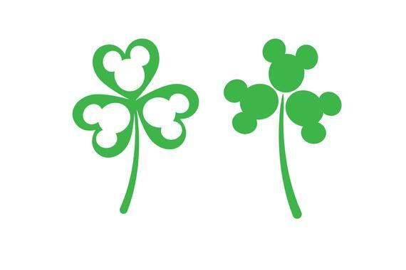 3b5f3ce45 Mickey St. Patrick's day svg, Shamrock Mickey, Disney svg, Disney dxf,  Mickey silhouette, Mouse svg,