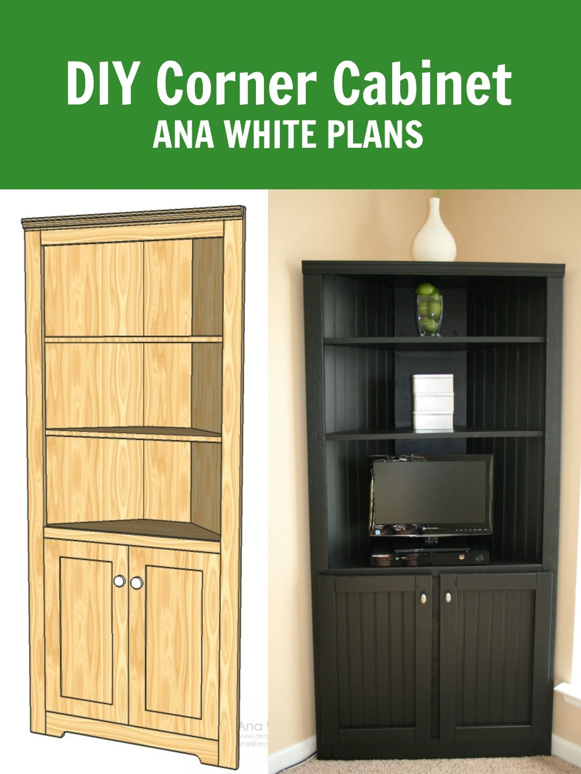 Surprising Ana White Corner Cabinet Storage Shelf Diy Projects Home Interior And Landscaping Oversignezvosmurscom