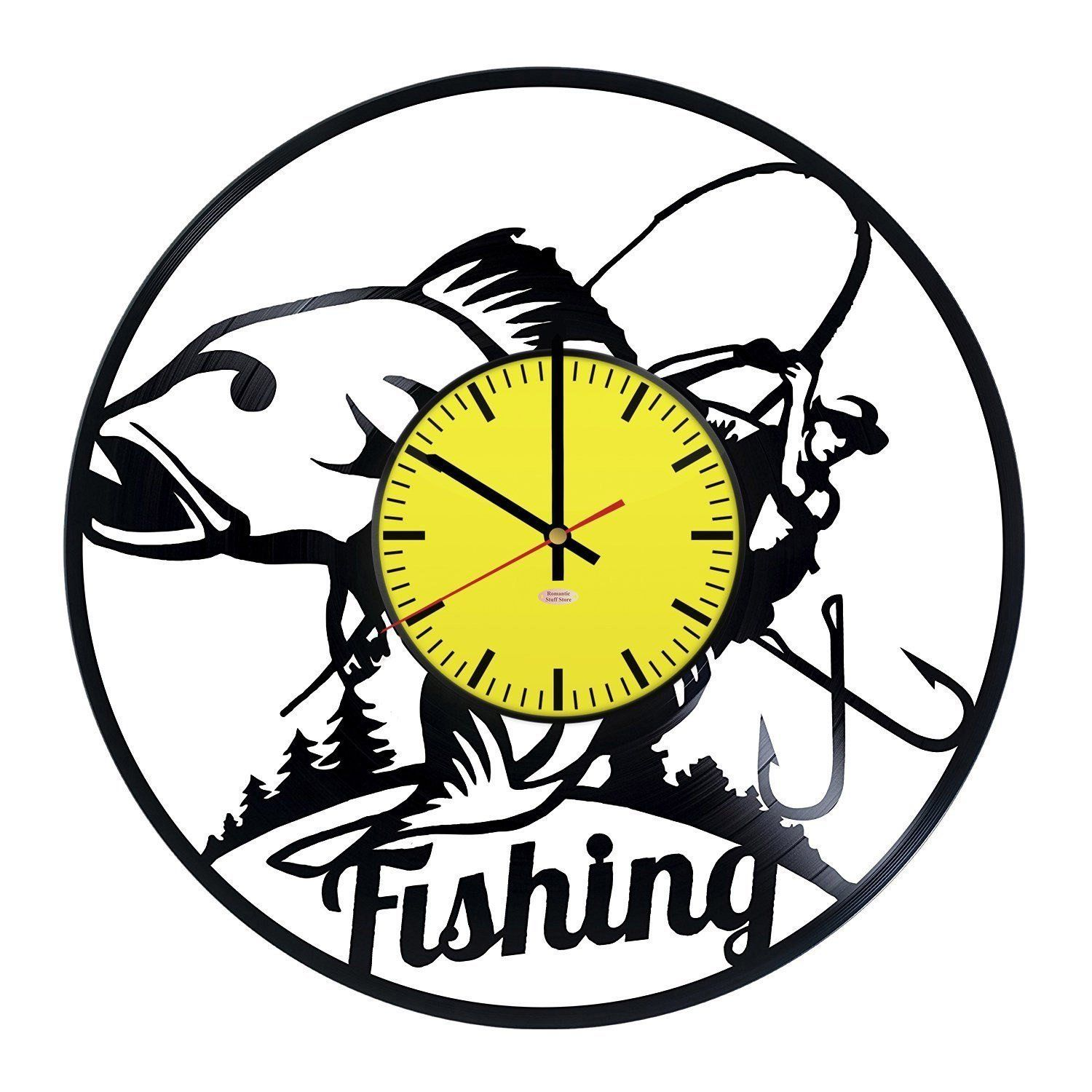 Big Fish Vinyl Record Wall Clock - Get unique kitchen or garage wall ...