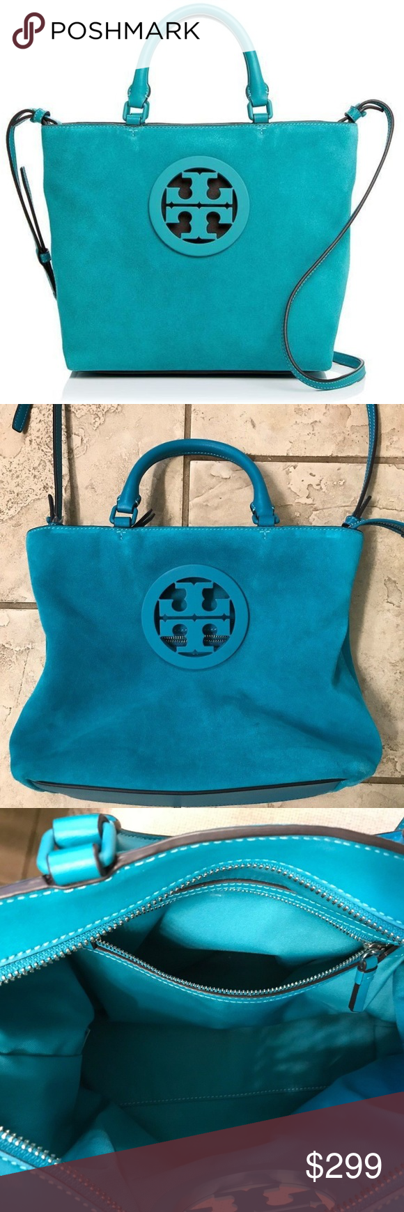 f7230cc1f08 Authentic Tory Burch Small Suede Tote You are looking at the Tory Burch  Charlie Small Suede