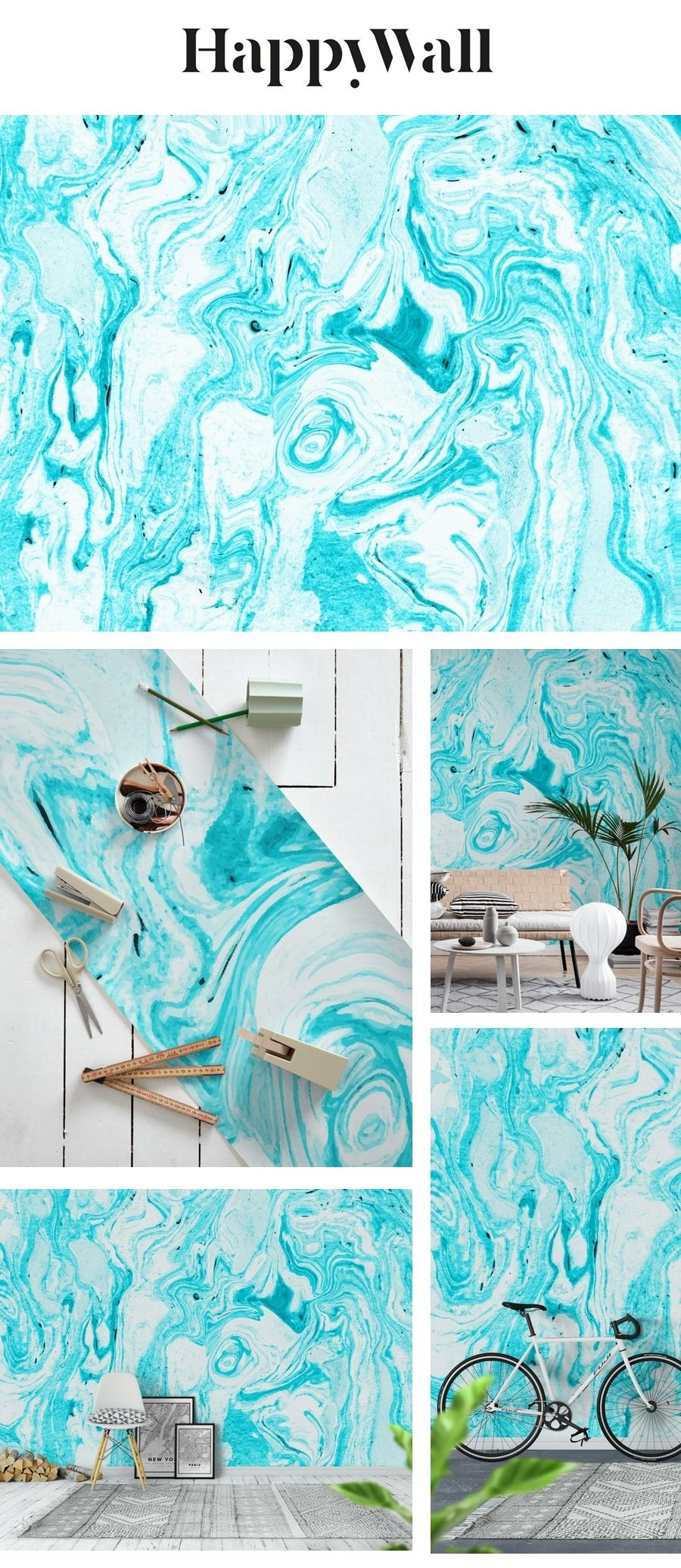 Ocean Blue Marble Wall Mural Blue Marble Wallpaper Wall Murals