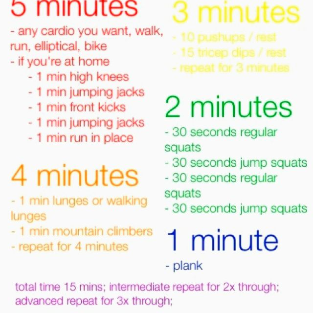 Sort of easy 15min workout