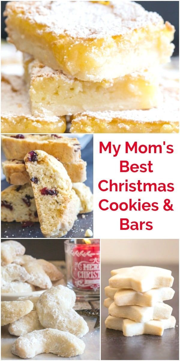 Christmas Cookies My Moms Best Christmas Cookies and Bars from shortbread sugar cookies to jam bars and chocolate recipes these are all our tried  true favorites Cookies