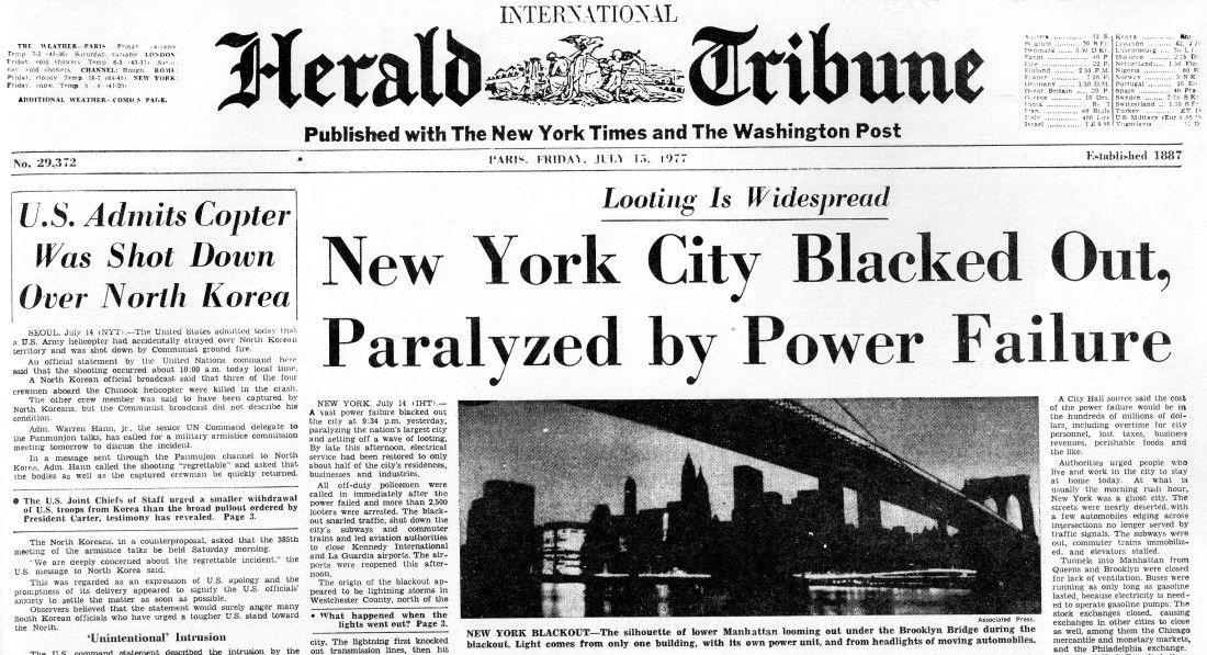 New York Blackout, 1977 Dreams, nightmares, Vintage ads