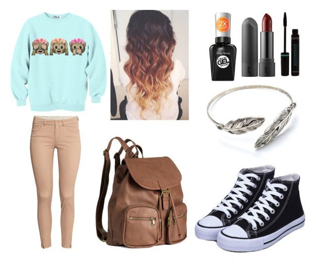 """""""Cute I guess"""" by mylittlepokemon on Polyvore featuring H&M and Sally Hansen"""