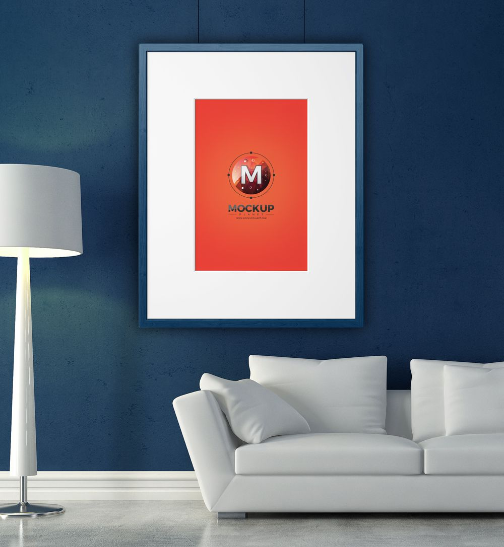 Elegant-Home-Interior-Photo-Frame-Mockup-PSD | Frames and Books ...