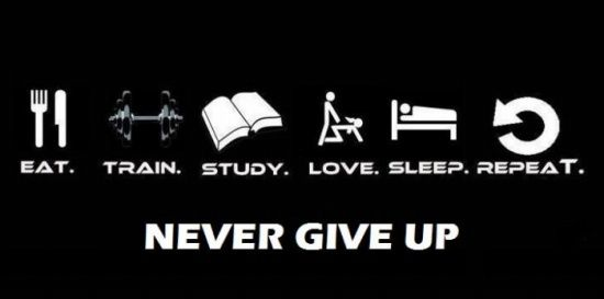 Don't EVER give up!! A good motto!!
