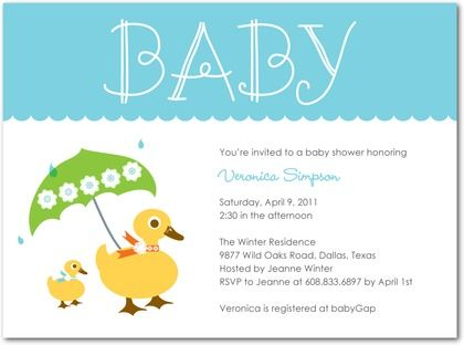 duck themed baby shower invitations Google Search Ducksbaby