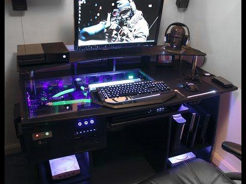 Ultimate Gaming Pc Custom Desk Build Log Diy Computer Desk Gaming Computer Desk Custom Gaming Computer