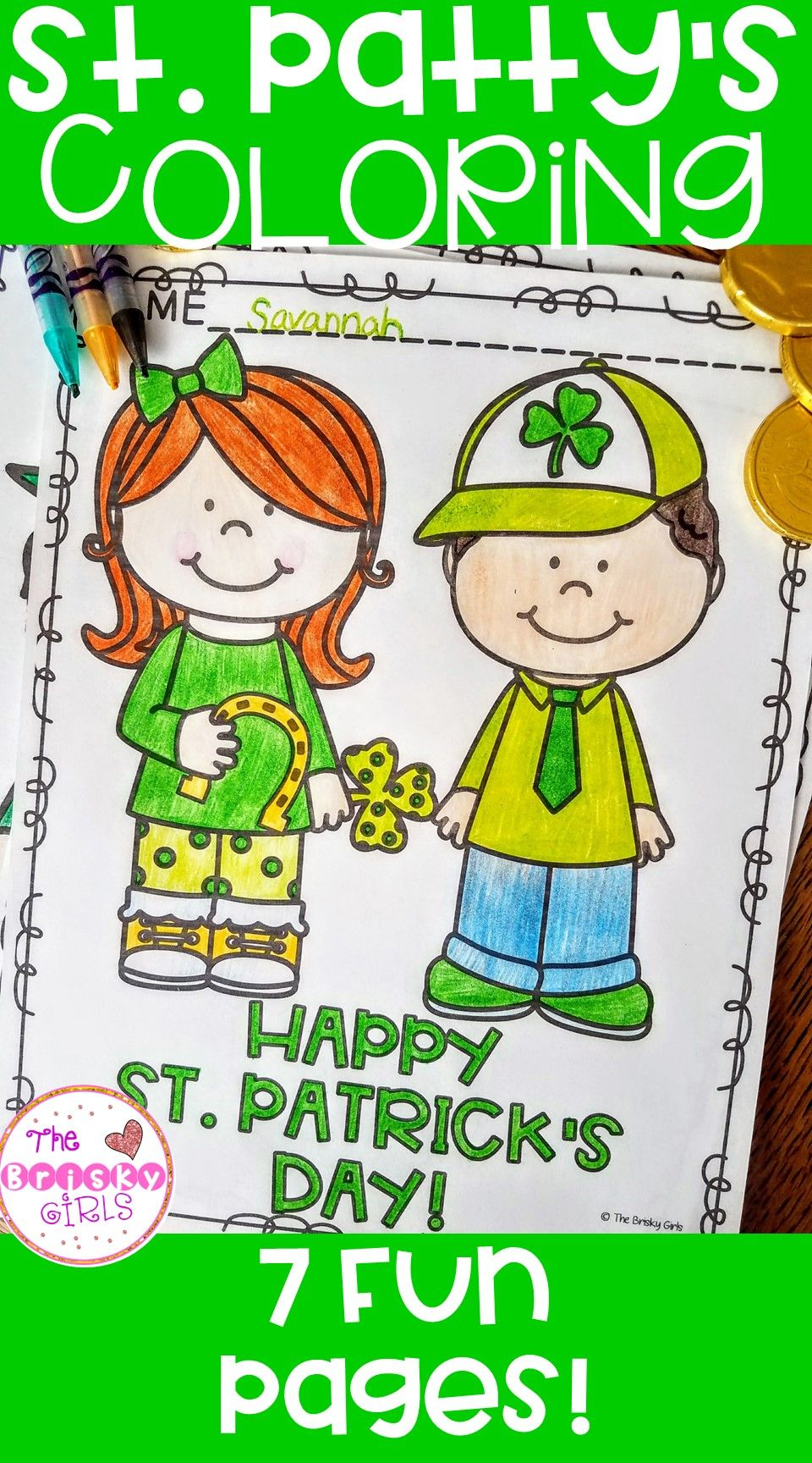 St. Patrick\'s Day Coloring Pages | Classroom resources, Activities ...