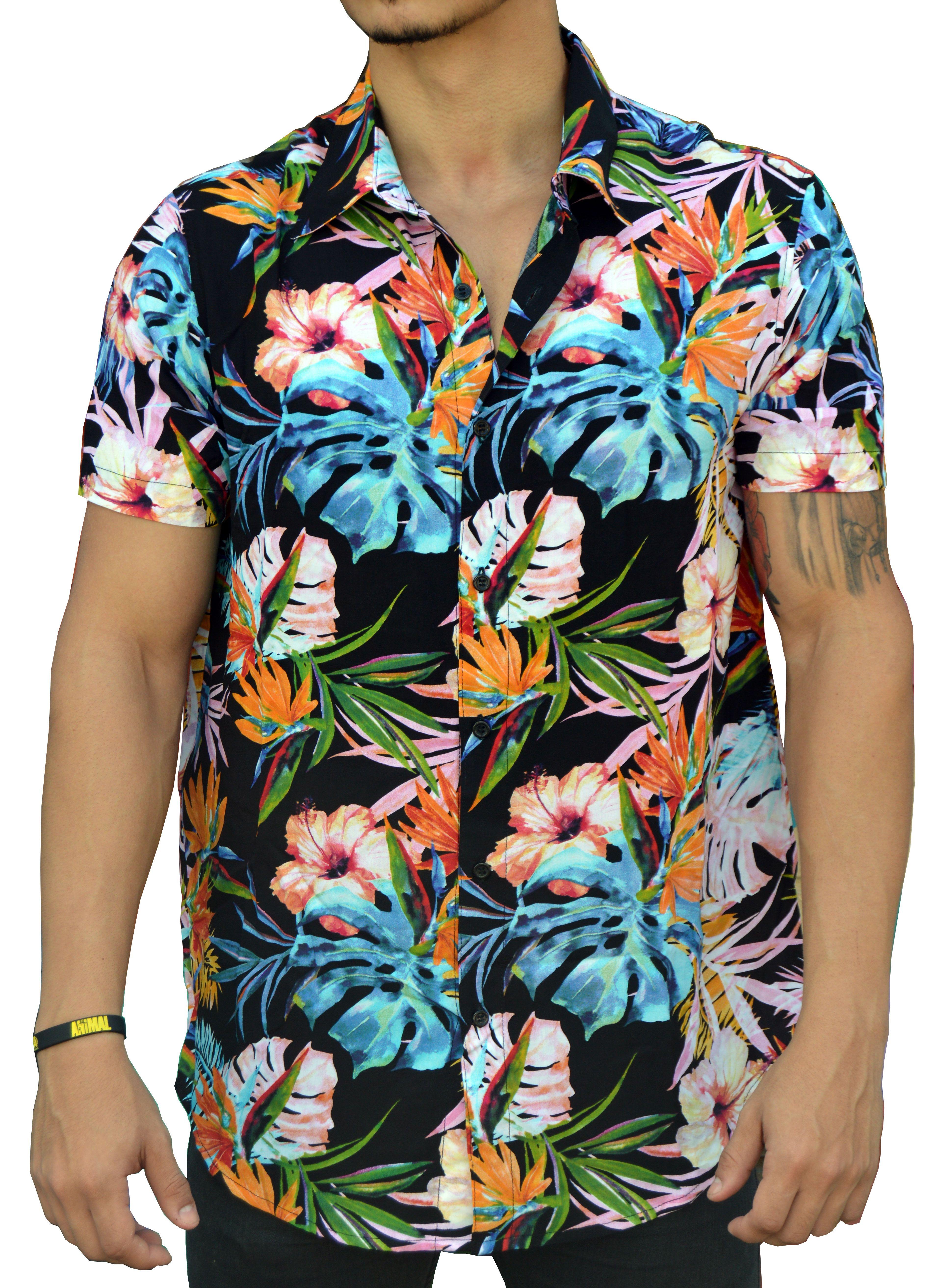 71c9d17a4 Camisa Floral Masculina Costela de Adão Azul | Camisas Masculinas ...