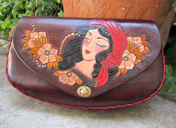 The Dreaming Gypsy....Handmade Tooled Leather by ContrivedtoCharm