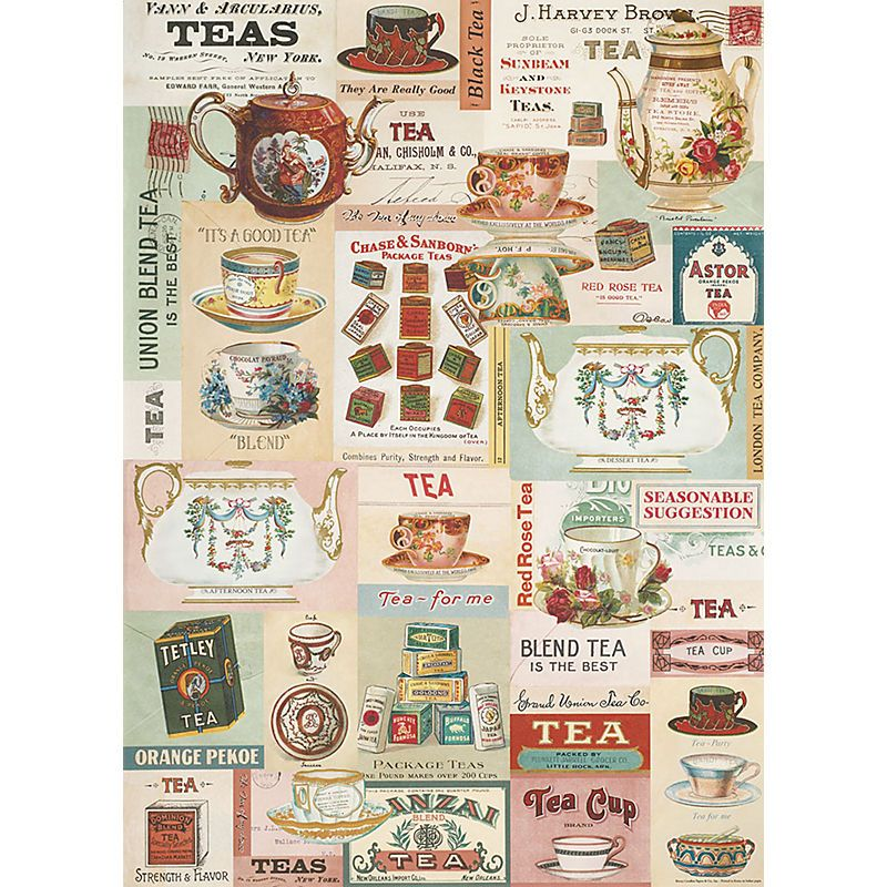 Cavallini vintage tea wrapping paper Paper-Source.com