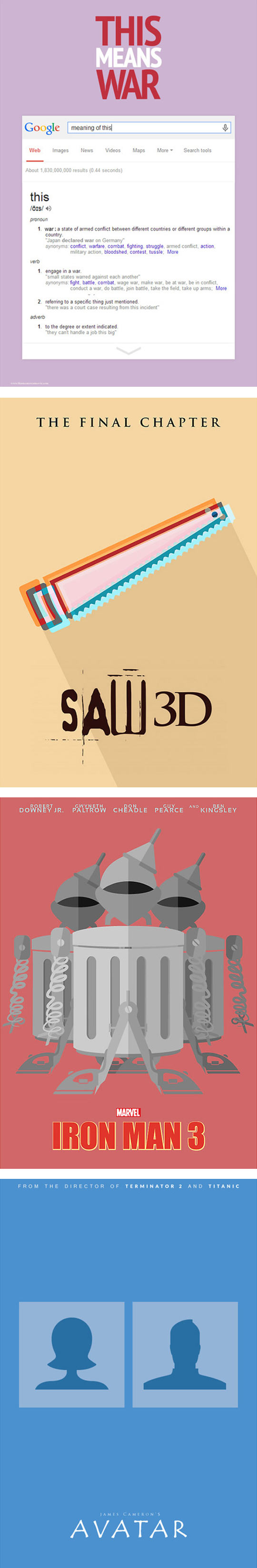 Creative Interpretation of movie posters