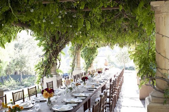 Hacienda Wedding Reception Table Love The Long And Hanging Vines