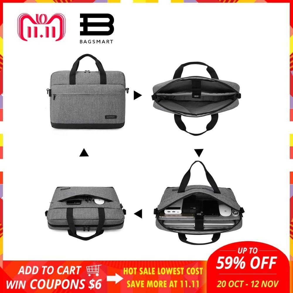 BAGSMART New Men 15.6 Inch Laptop Briefcase Bag Mens Business Computer Bags  Nylon Handbag Men s Office 1ea03ec2f0e99