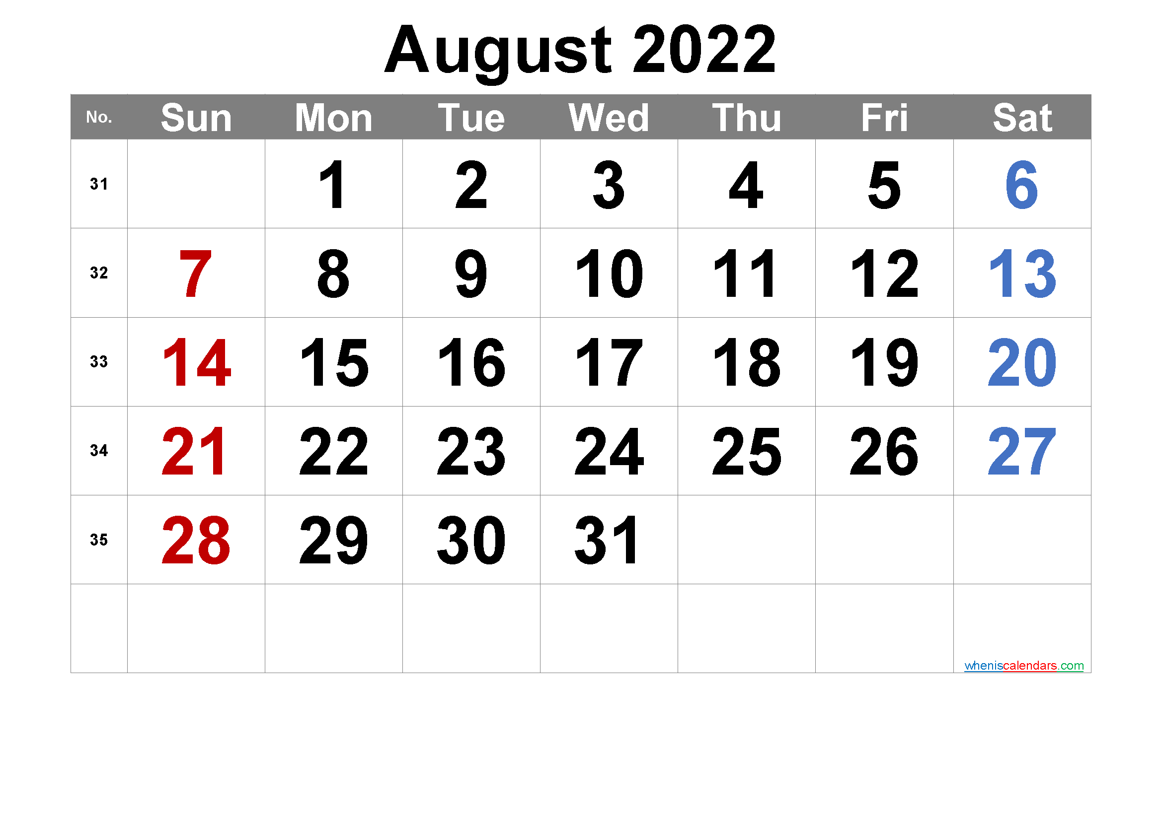 Download Free Printable August 2022 Calendar With Holidays In A Variety Of Different Formats And C In 2020 Calendar Printables Printable Calendar Numbers 2021 Calendar