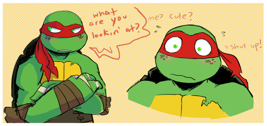 g0op: Was wondering what Raph looked like with Mikey's freckles and