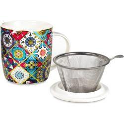 Stellen Sie Teetasse Mandala Oriental YogaboxYogabox ein  – Products