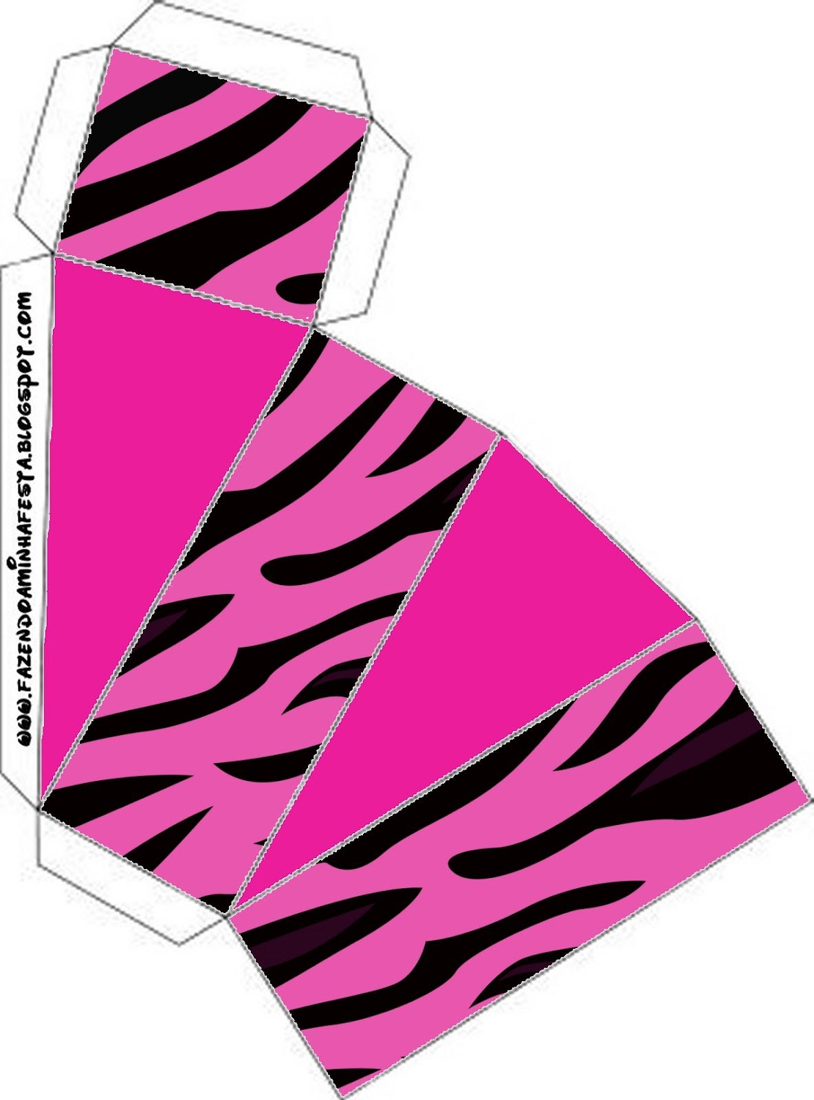 Design Zebra in Pink: free printable boxes. | Party - Teen/Adult ...