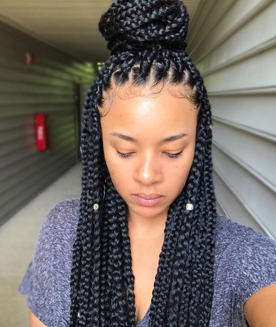 flawless braids xoxojenise - black