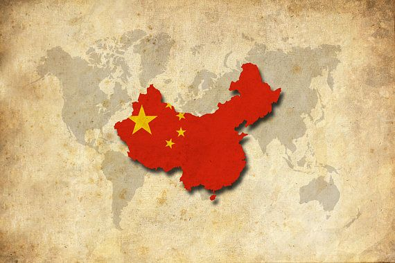World map china china flag map poster print sepia world country world map china china flag map poster print sepia gumiabroncs Image collections