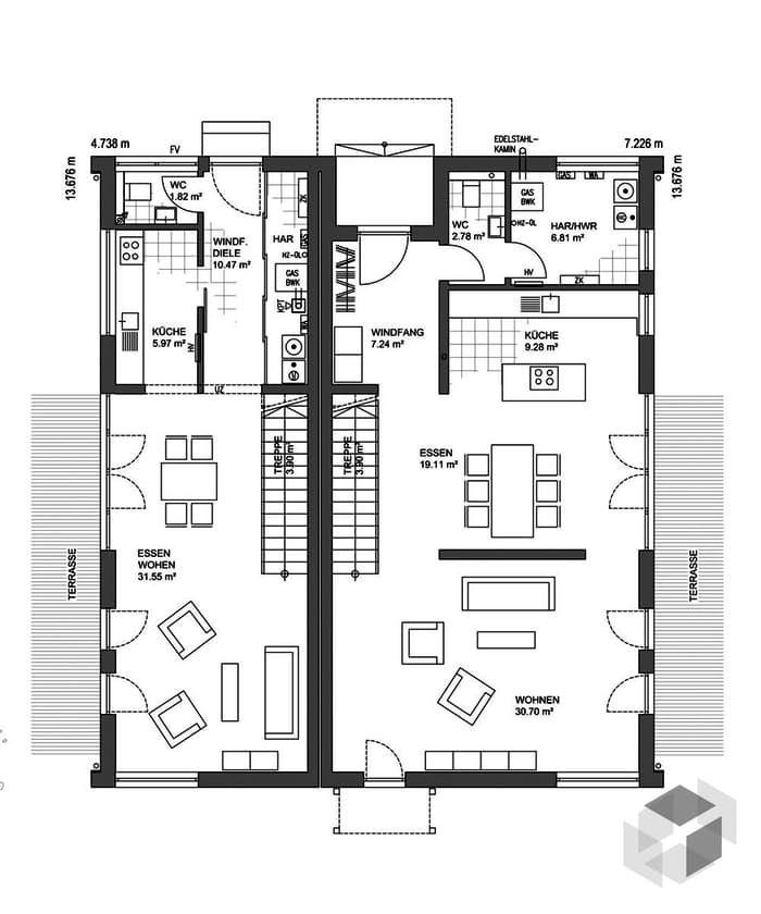 Amazing Kubisches Haus | Hausbau Inspirationen/ideen | Pinterest |  Doppelhaushälfte, Hausfassaden Und Haus Design
