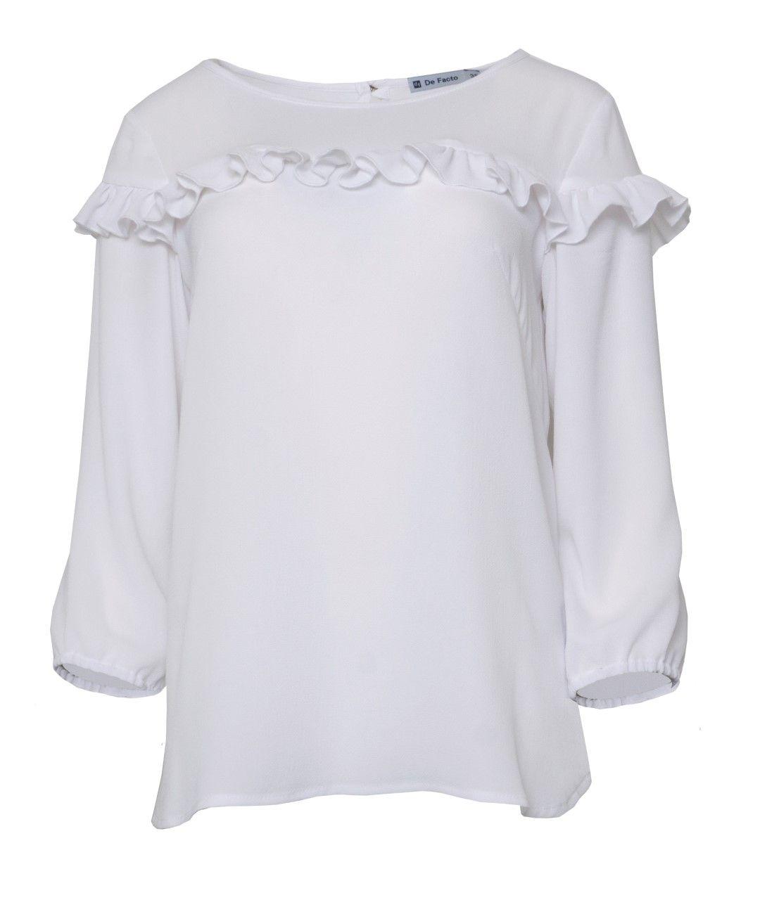 6ee14c17ba Biała bluzka do spódnicy na wesele z falbanką.