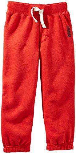 OshKosh B'gosh Baby Boys' Fleece Athletic Pants (Baby) - Red - 9 Months. Athletic.