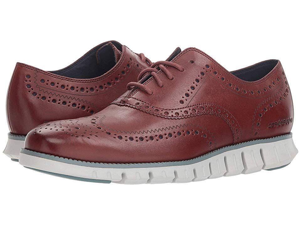 ef93746428 Cole Haan Zerogrand Wingtip Oxford Leather Men's Shoes Hickory/Goblin Blue/Vapor  Grey