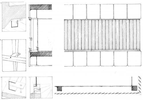 Vertical Gradpanel-R louvers on library in Barcelona [410